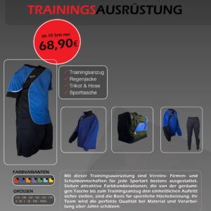 Ridas Trainingsausrüstung 2017